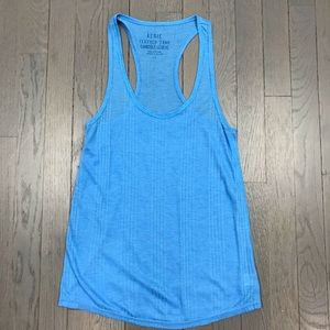 Aerie American Eagle Feather Tank Cami Blue Top